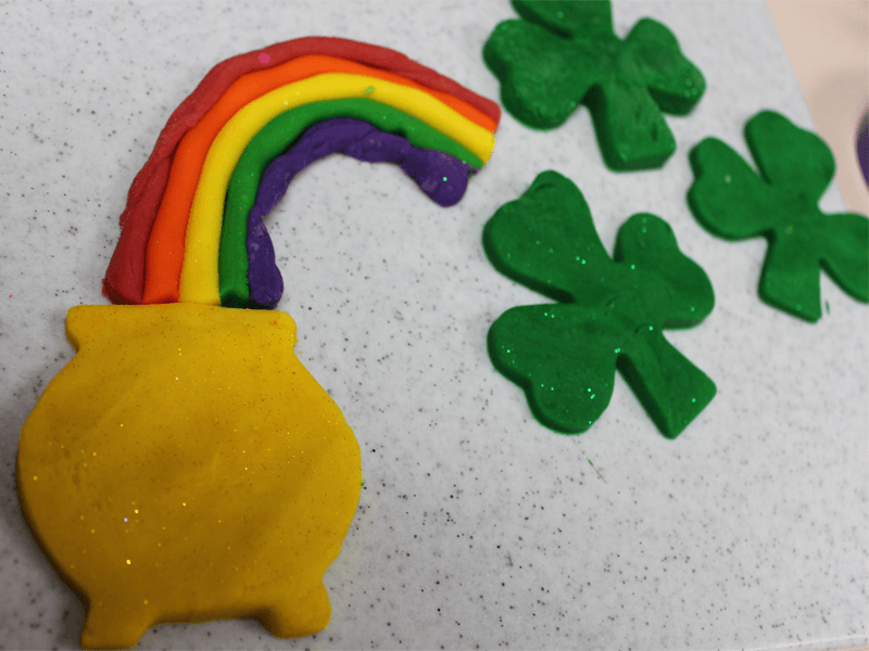 St. Patrick's Day For Children Play-Dough Pot of Gold