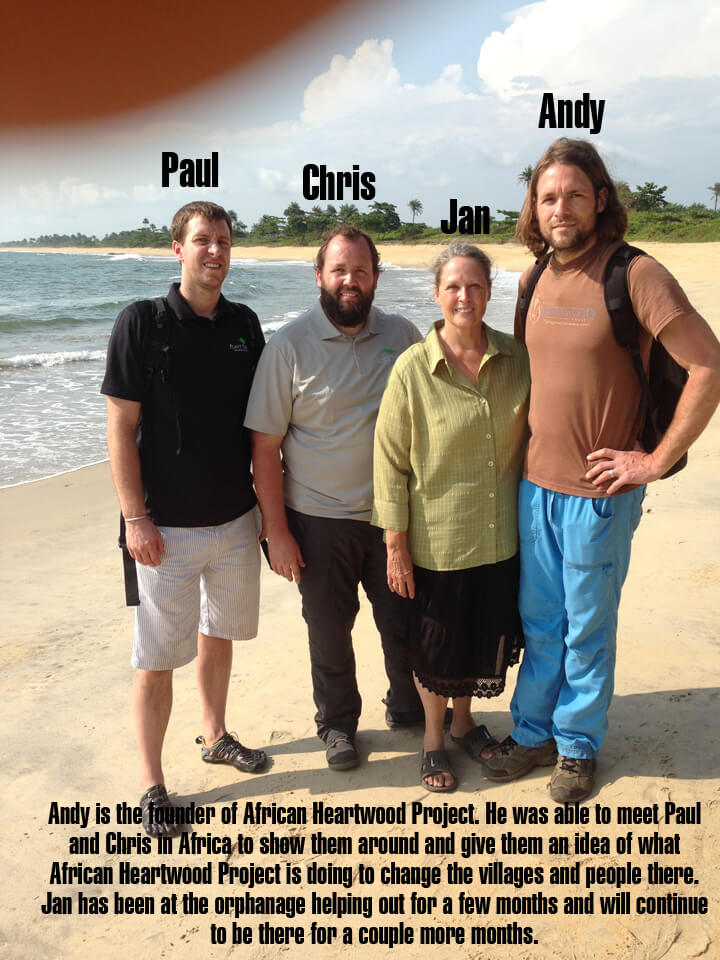 African Heartwood Project Paul, Chris, Jan and Andy