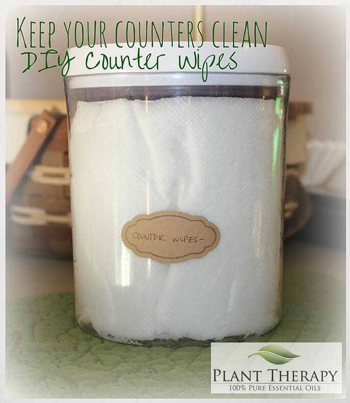 DIY Counter Wipes