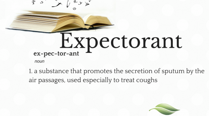 expectorant a substance that promotes the secretion of sputum by the air passages used especially to treat coughs