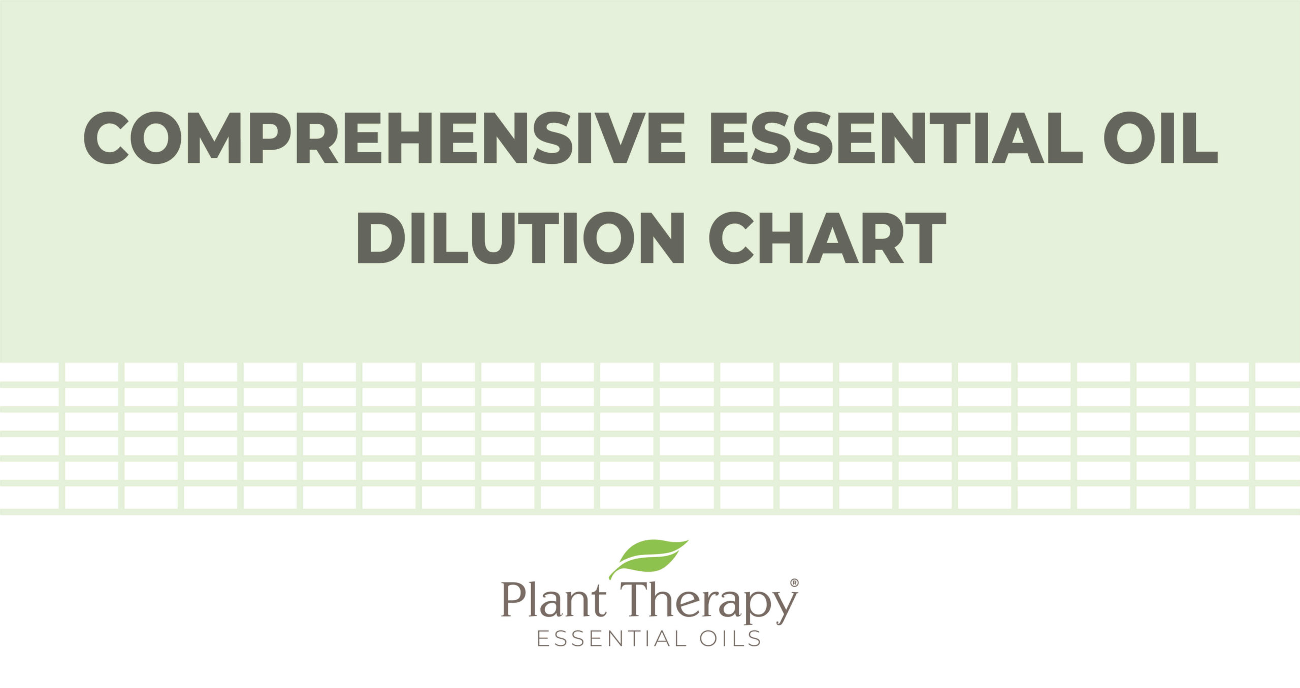Everyday Essentials Comprehensive Essential Oil Dilution Chart