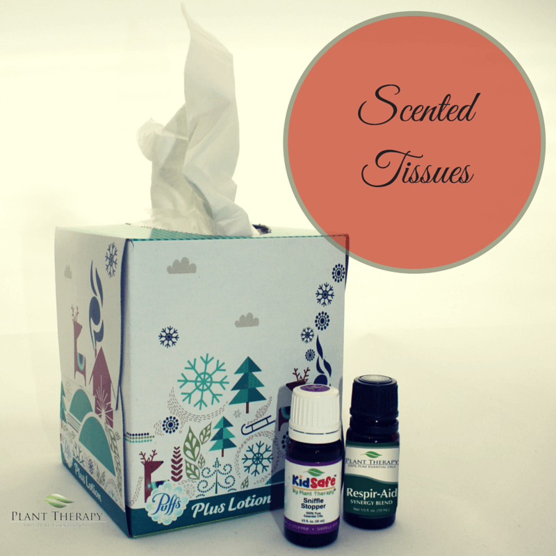 Plant Therapy DIY Christmas Project Scented Tissues with Sniffle Stopper