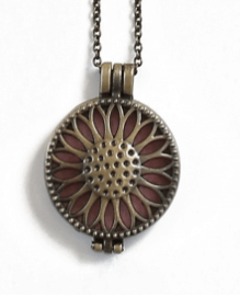 Bronze Sunflower Diffuser Locket