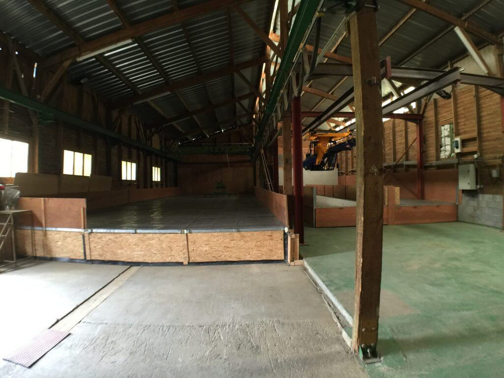 Drying Tables in production barn