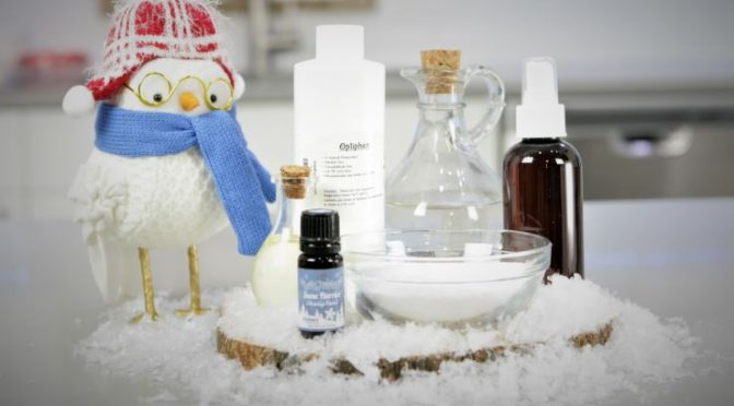 Snow Flurries DIY set of ingredients