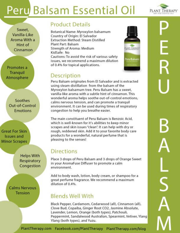 December Oil of the Month - Peru Balsam - Plant Therapy Blog