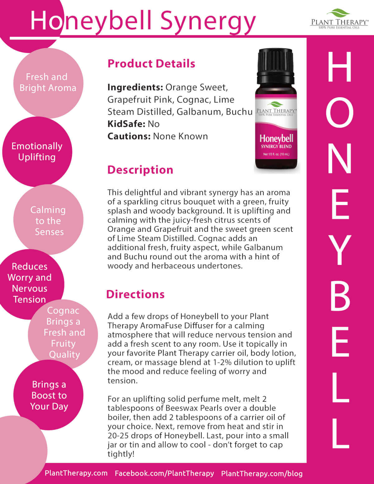 honeybell essential oil synergy