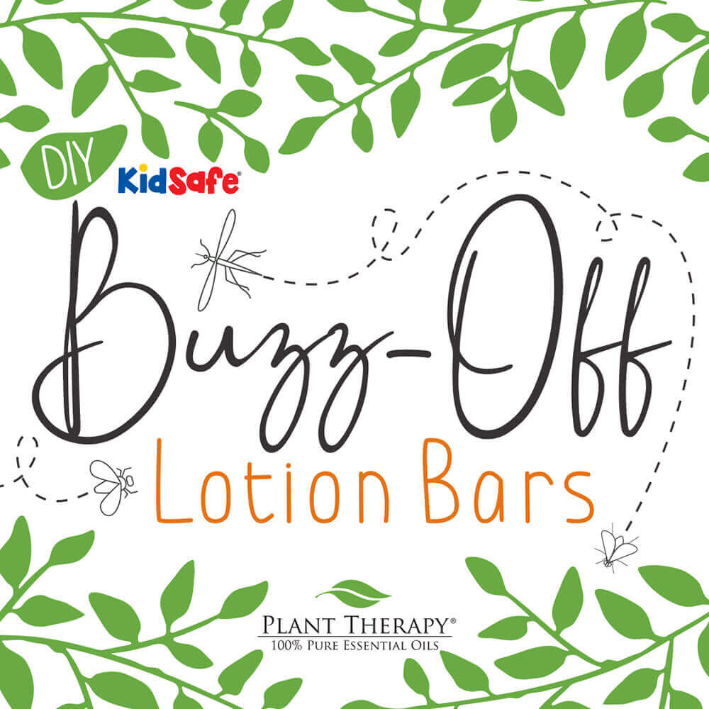 DIY insect repellant essential oil lotion bars