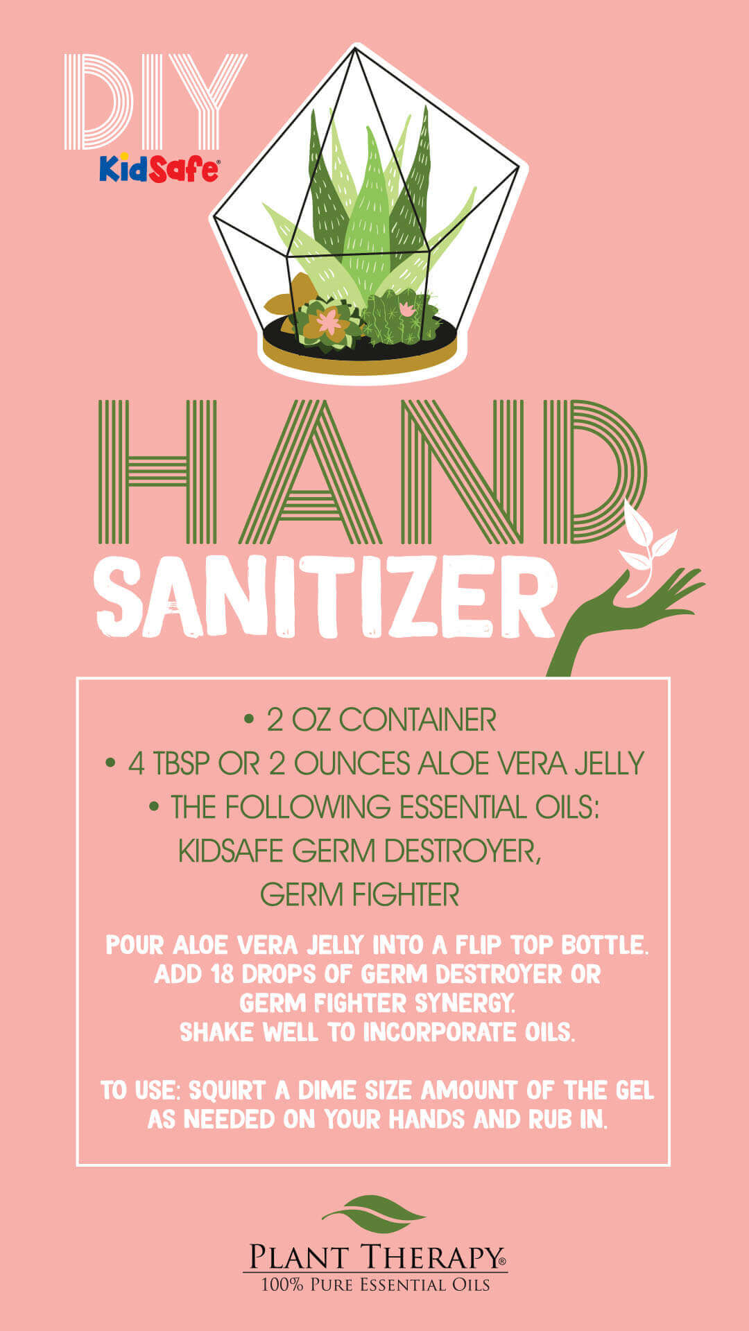 hand sanitizer DIY for halloween, using germ destroyer germ fighter