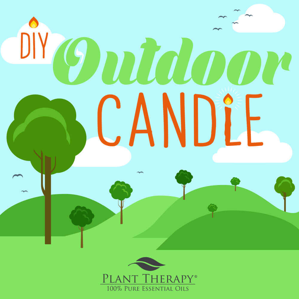 DIY Essential Oil Outdoor Candle