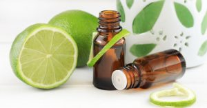 lime essential oil bottles