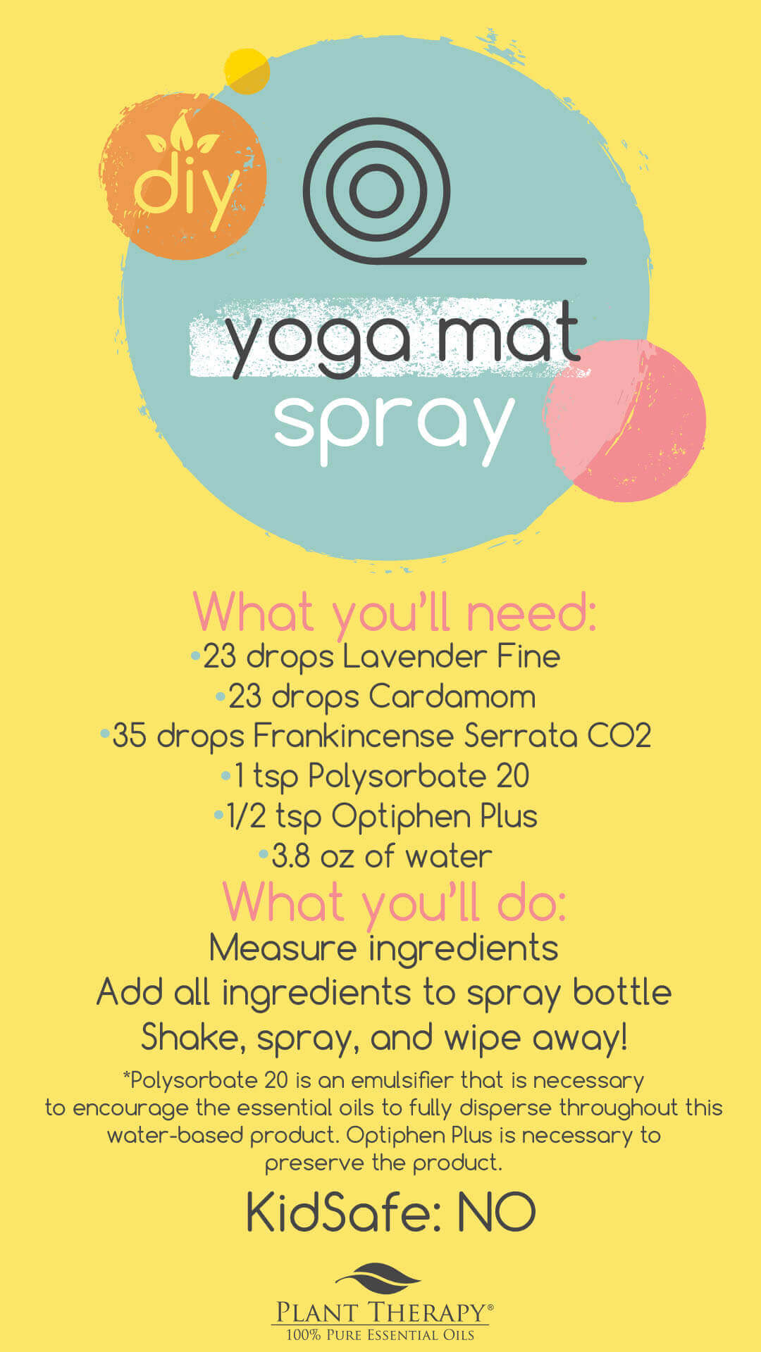 Diy The Best Yoga Mat Cleaner With Essential Oils Everyday Essentials