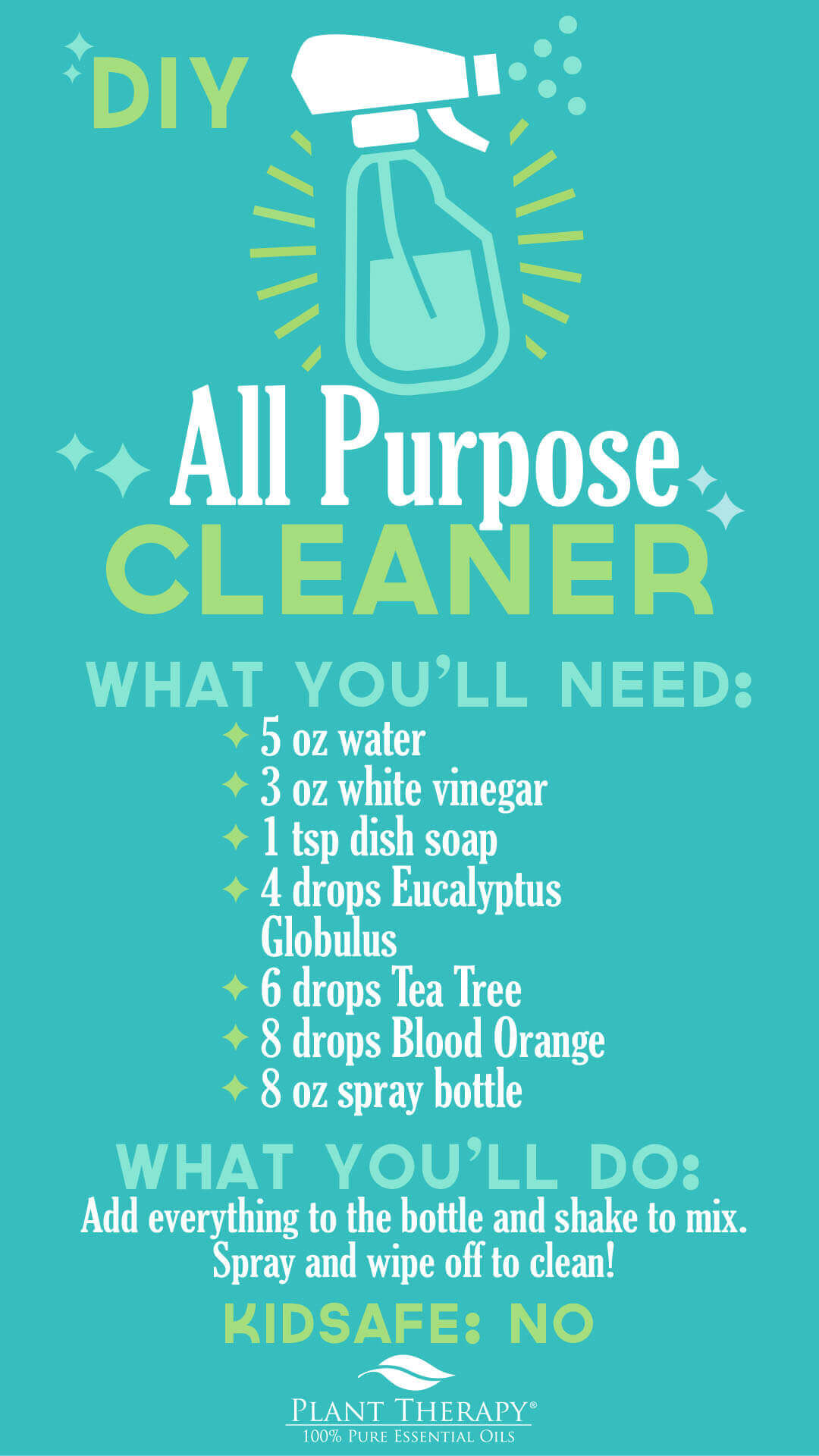 Plant Therapy DIY all-purpose cleaner