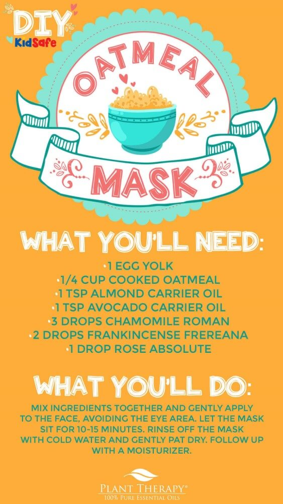 DIY Dry Skin Essential Oil Oatmeal Mask