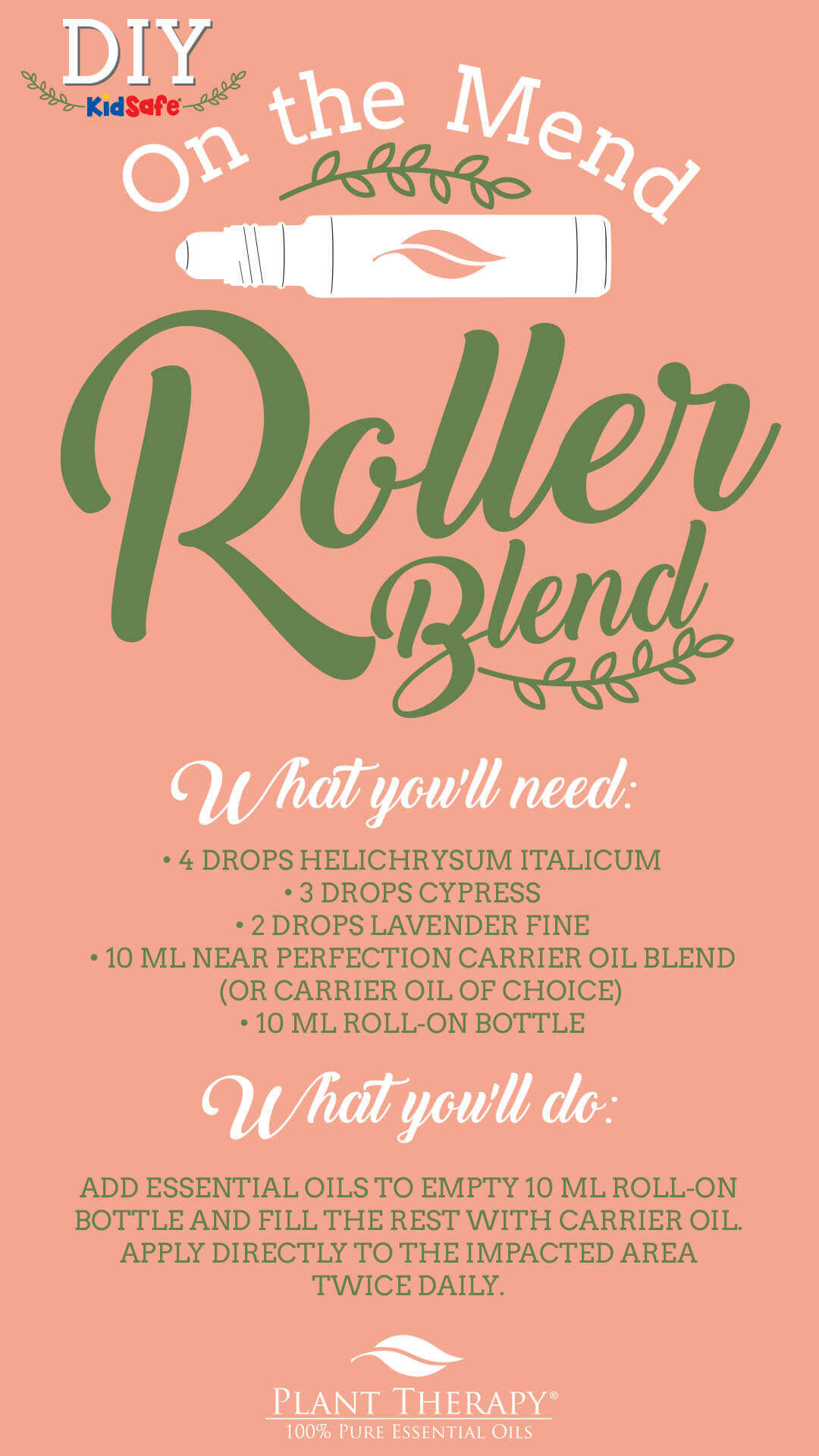 on the mend roller blend with helichrysum italicum