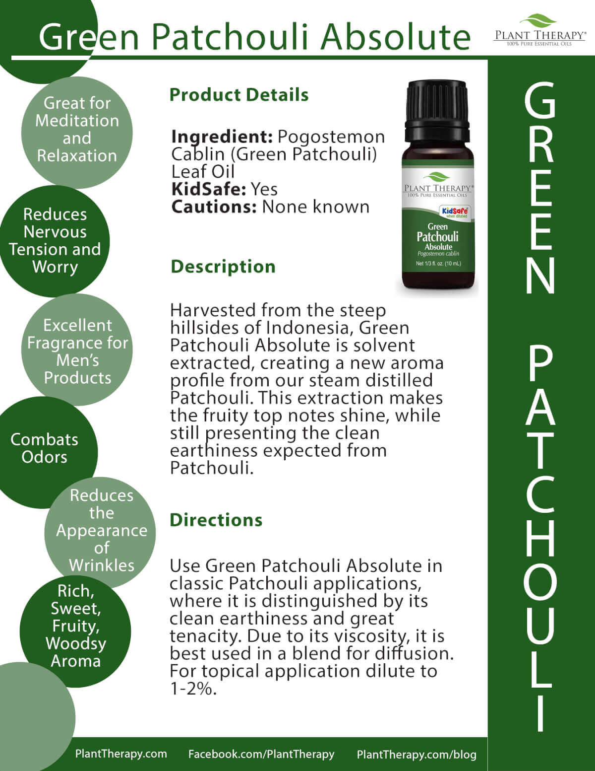 green patchouli absolute essential oil