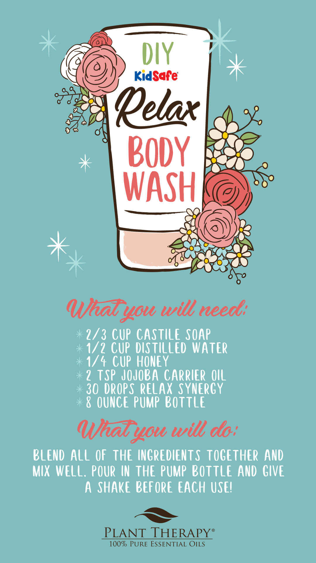 Plant Therapy Relax Body Wash DIY