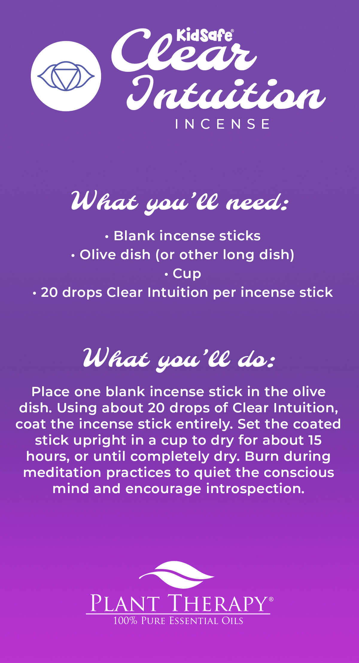 clear intuition incense diy