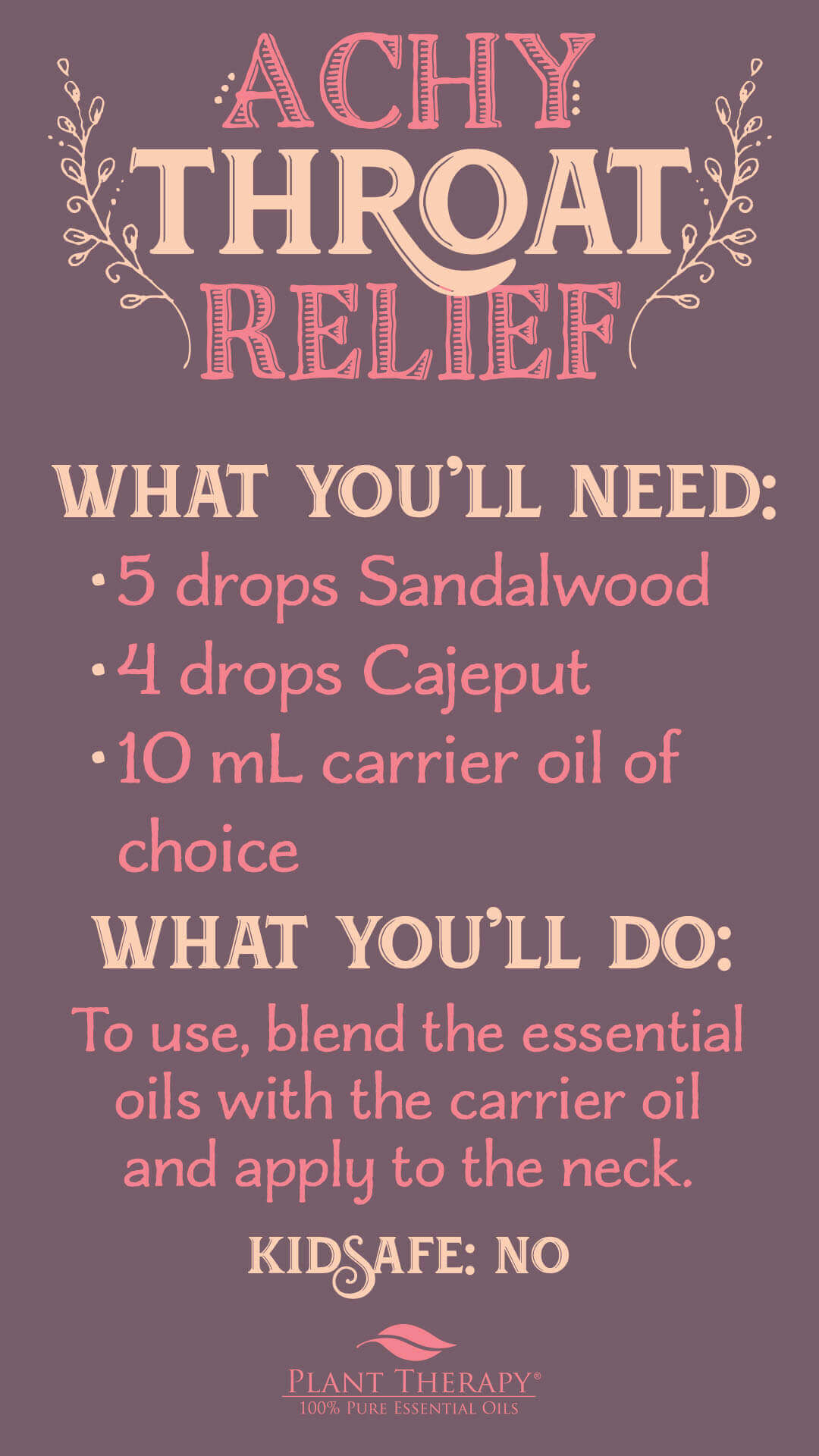 Essential Oils for Sore Throat - Benefits and Uses - DIY Neck Rub