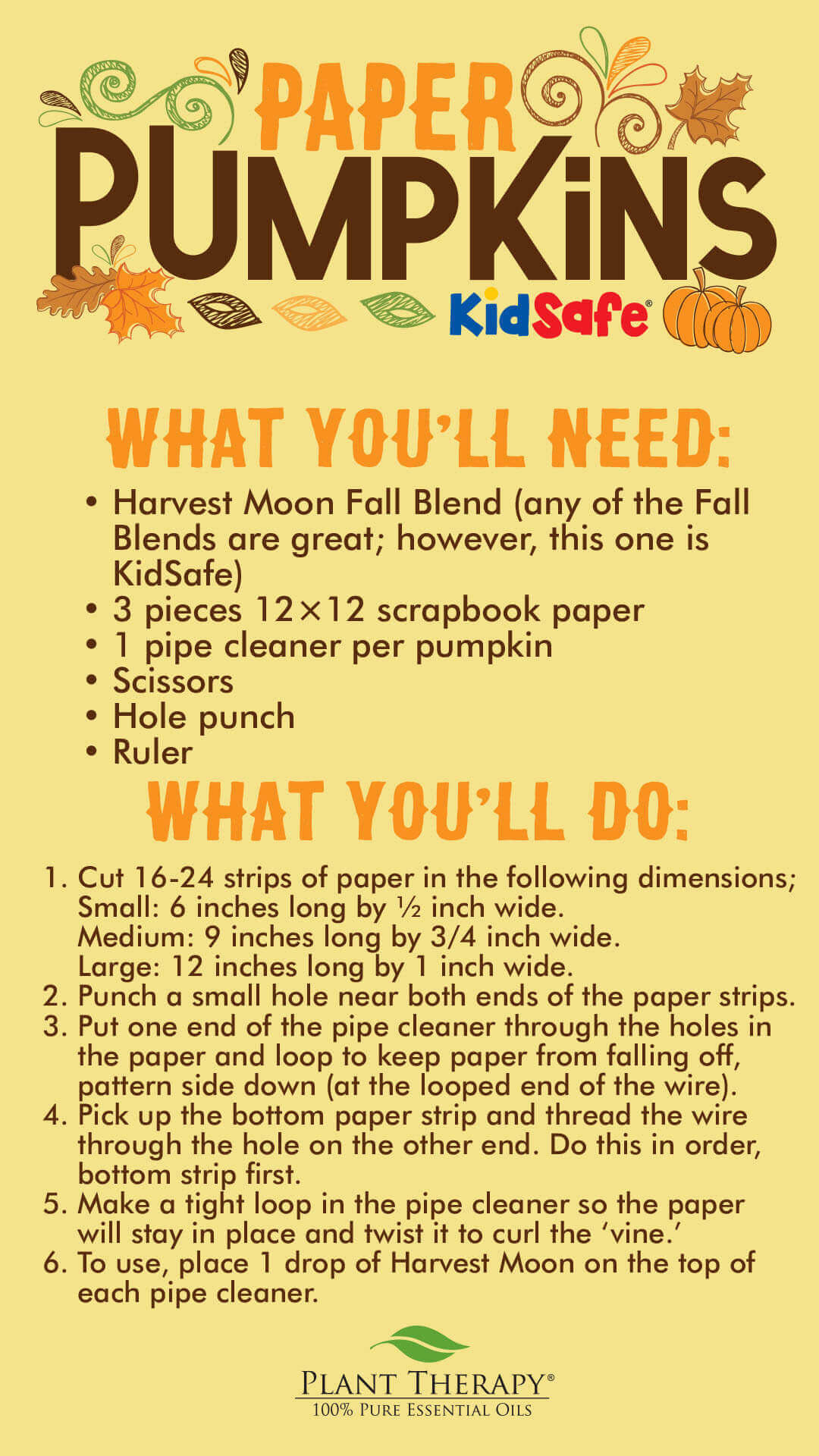 Plant Therapy Paper Pumpkins DIY