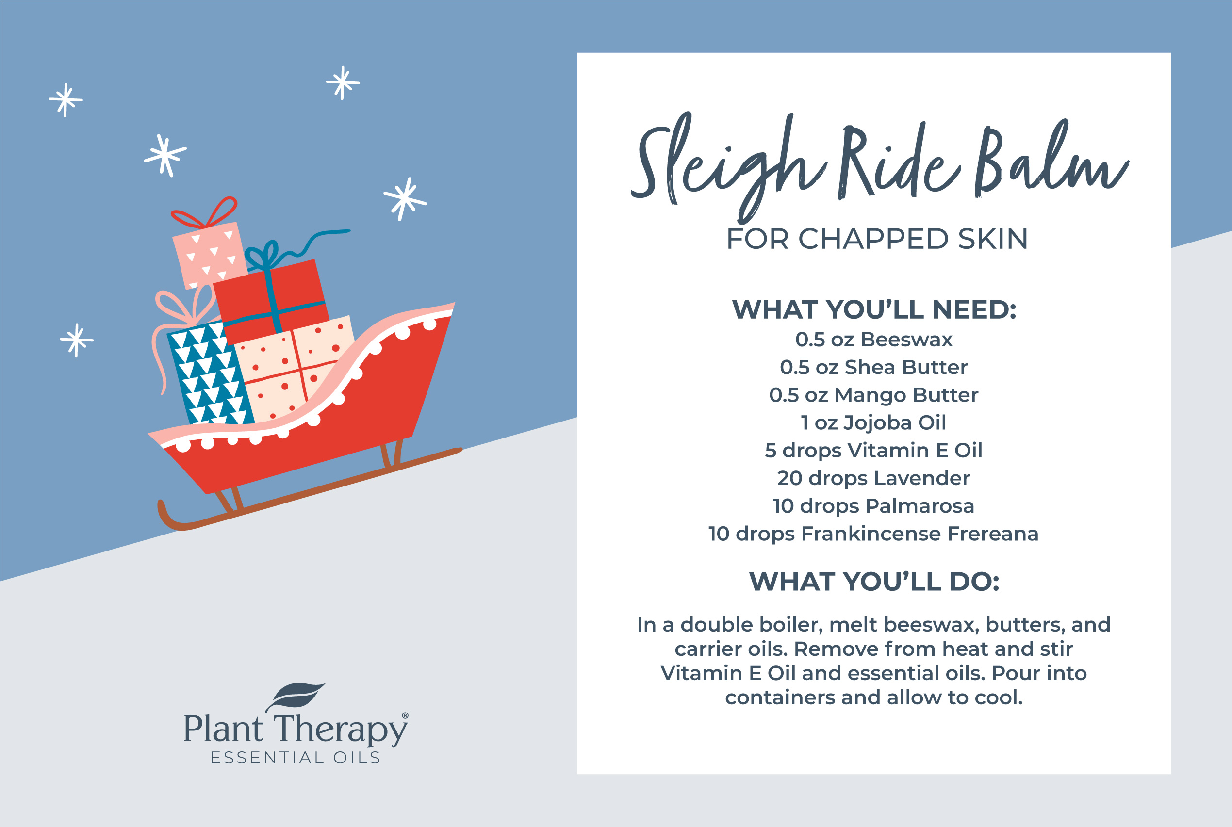 Sleigh Ride Balm for Chapped Skin DIY