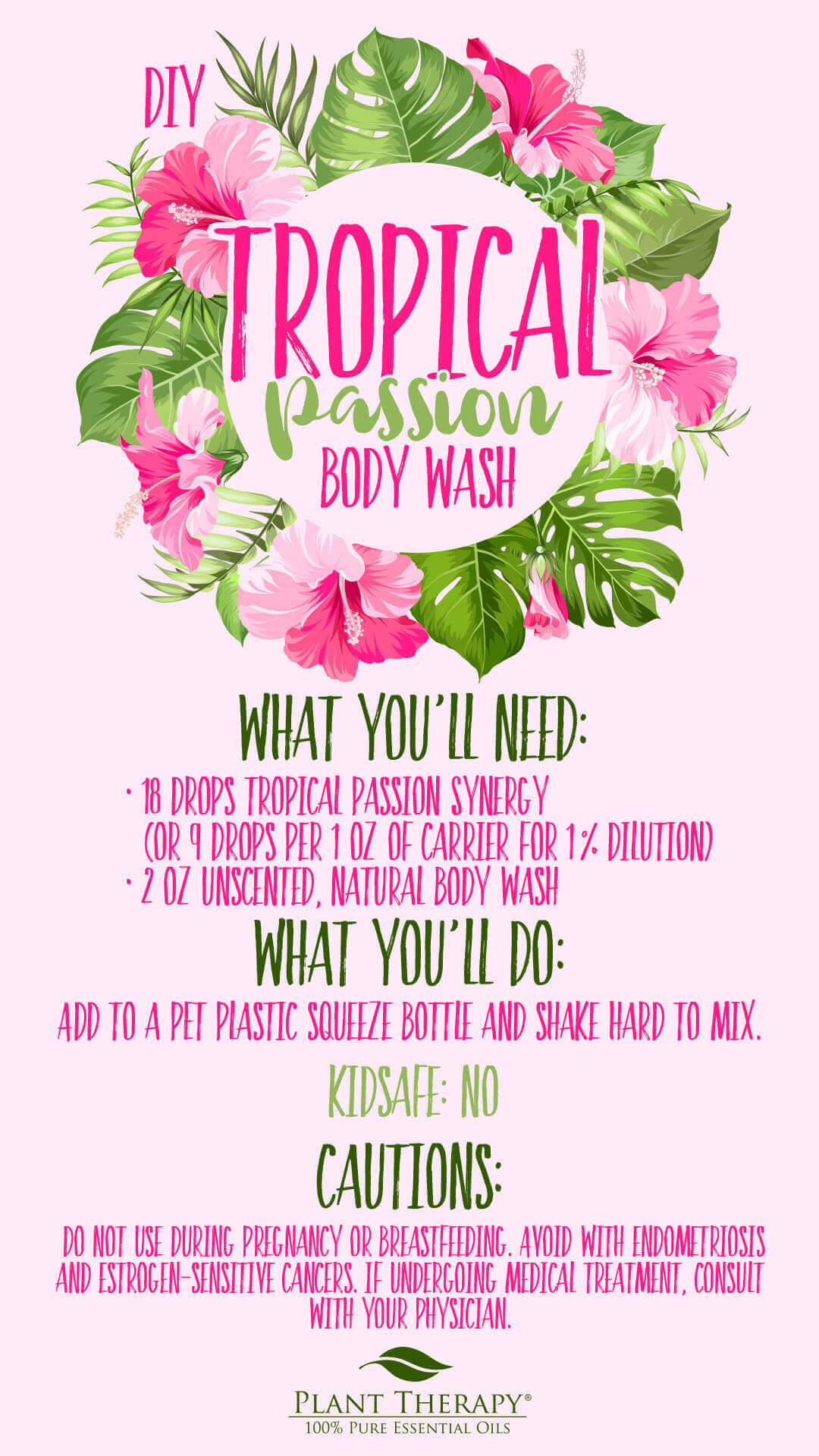 Tropical passion body wash DIY instructions