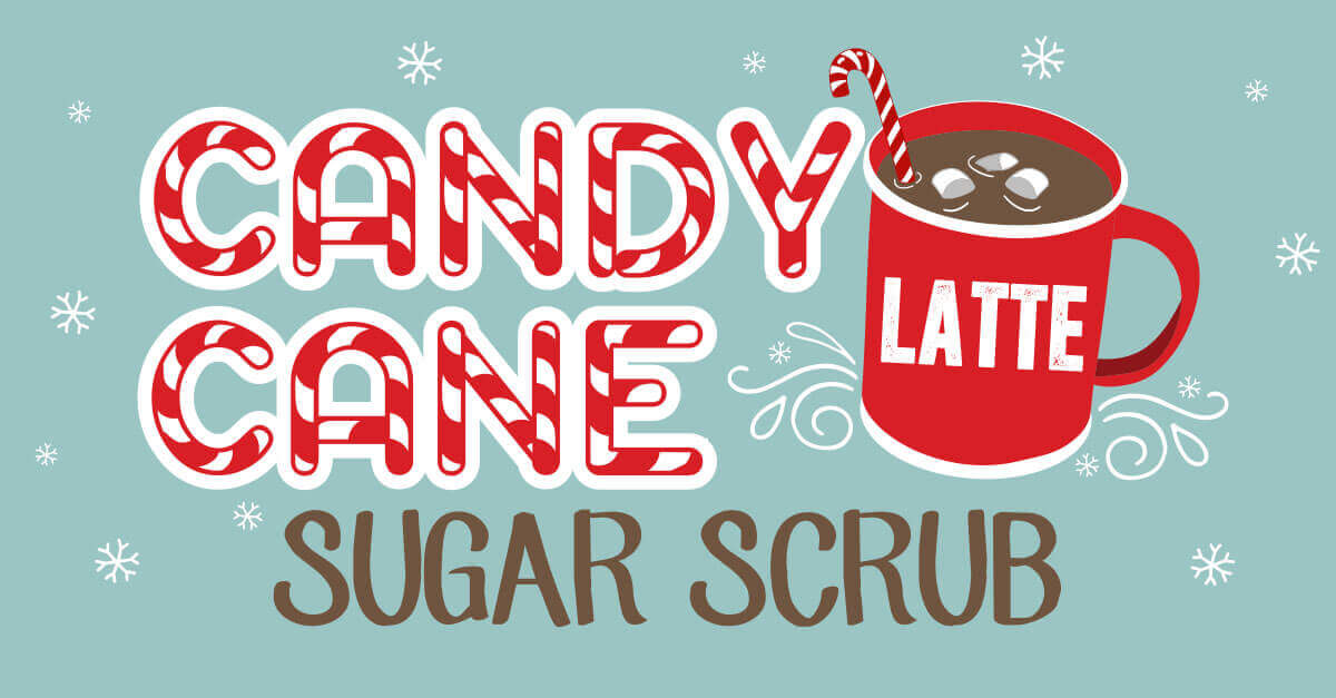 Candy cane sugar scrub DIY from Plant Therapy gift guide