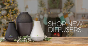 Plant Therapy new Ultafuse and Novafuse diffusers on a table