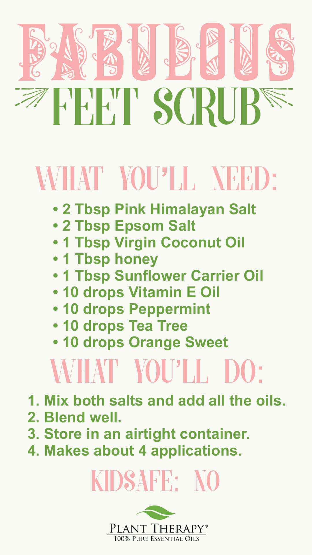 Plant Therapy DIY Fabulous Feet Blends DIY instructions
