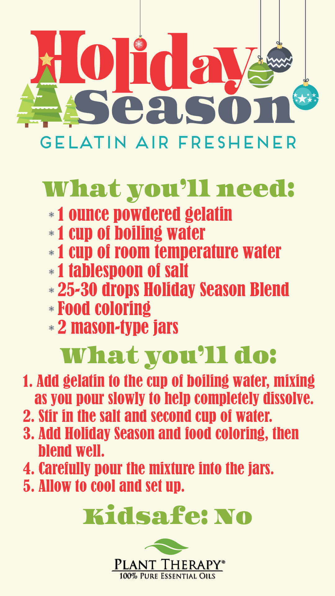 Essentials Video: Holiday Season Gelatin Air Freshener