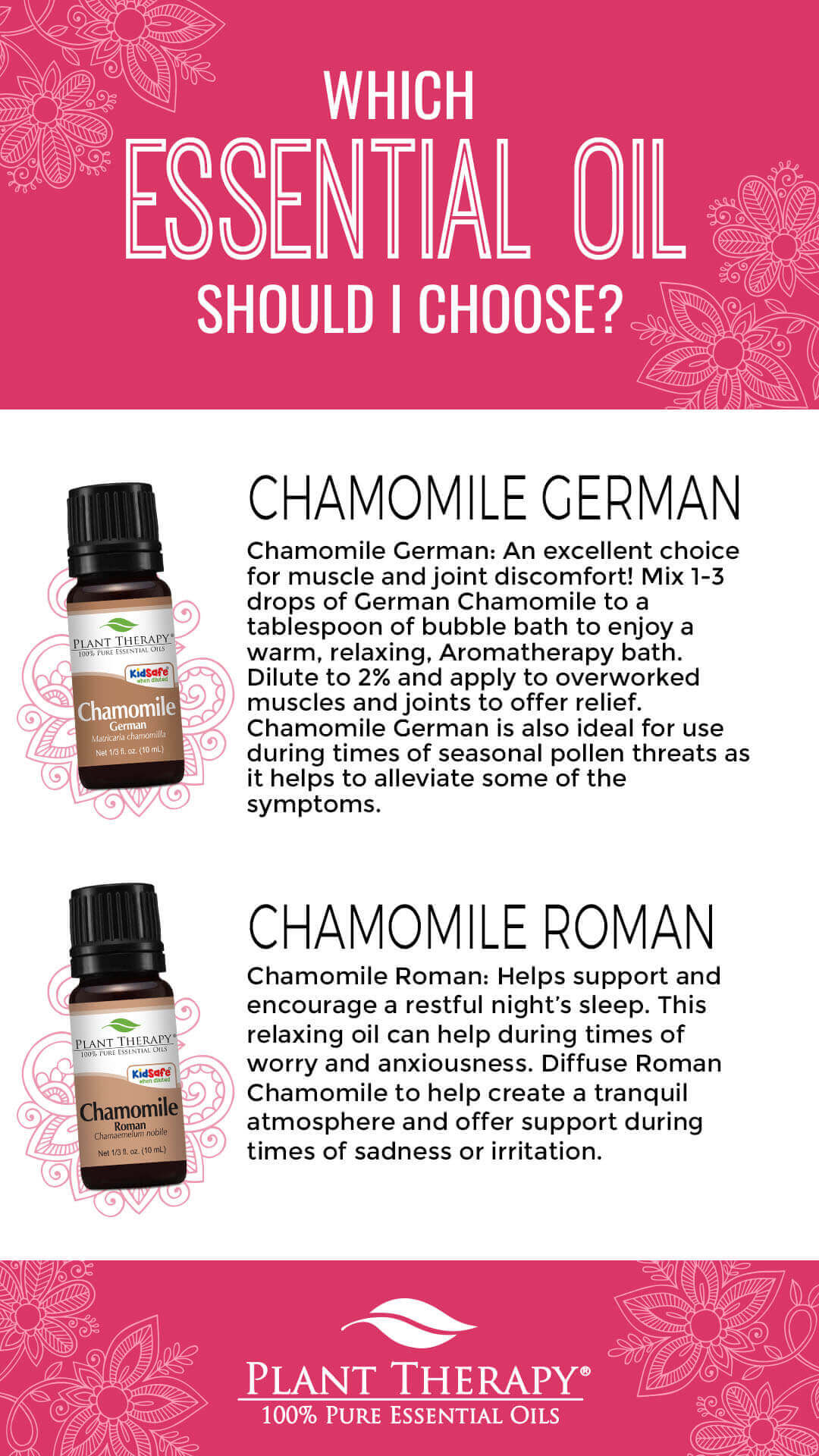 which chamomile essential oil should you choose