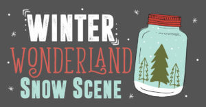 winter wonderland snow scene DIY from Plant Therapy