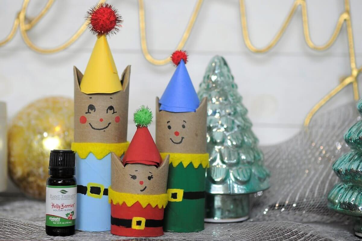 DIY holiday christmas craft for kids with passive diffusion