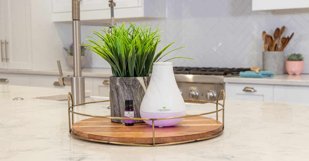 Plant Therapy NovaFuse diffuser on a table gift guide