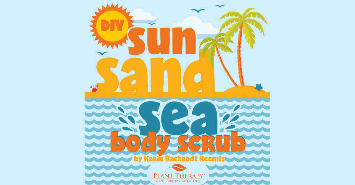 Sun San Sea body scrub essential oil DIYs