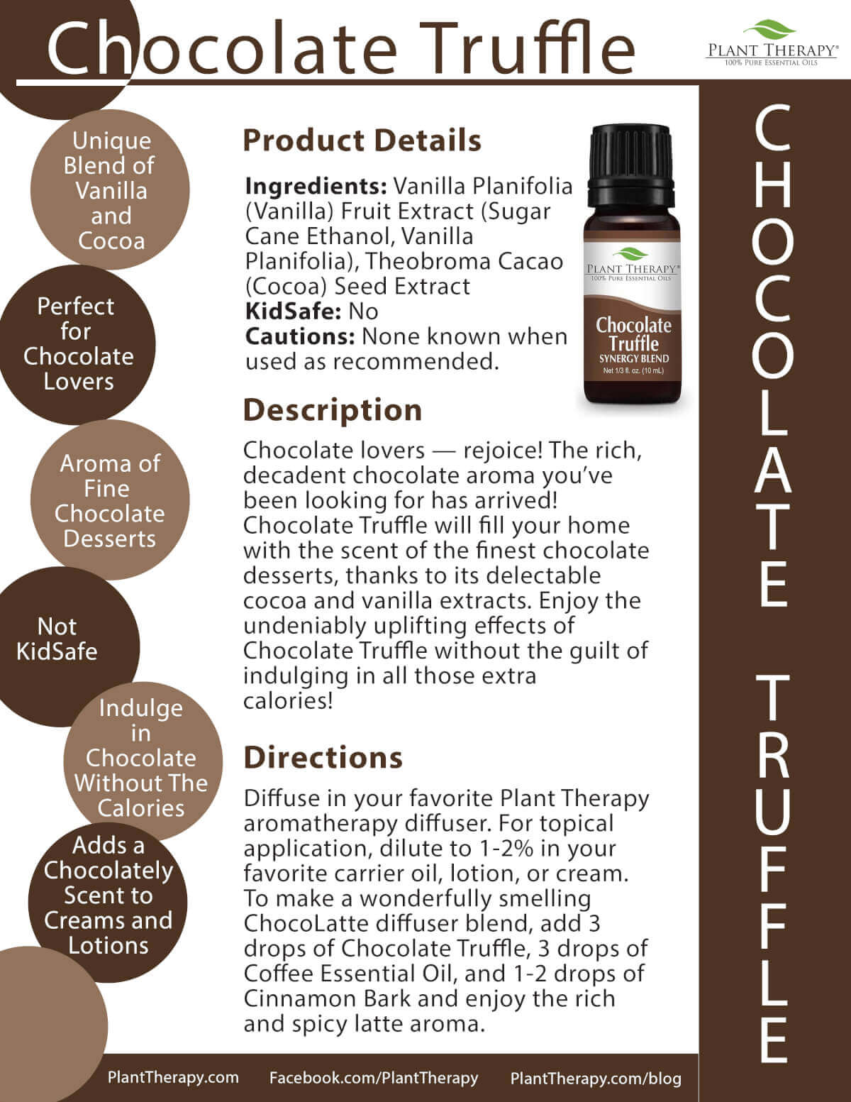 chocolate truffle product sheet