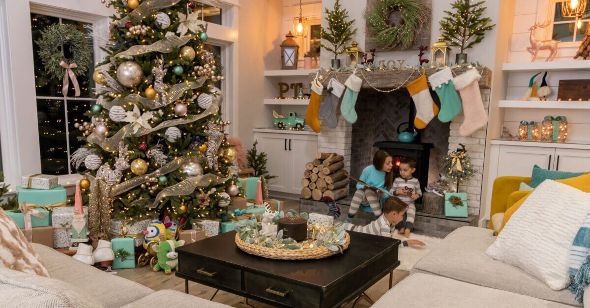 holiday season with children relaxing