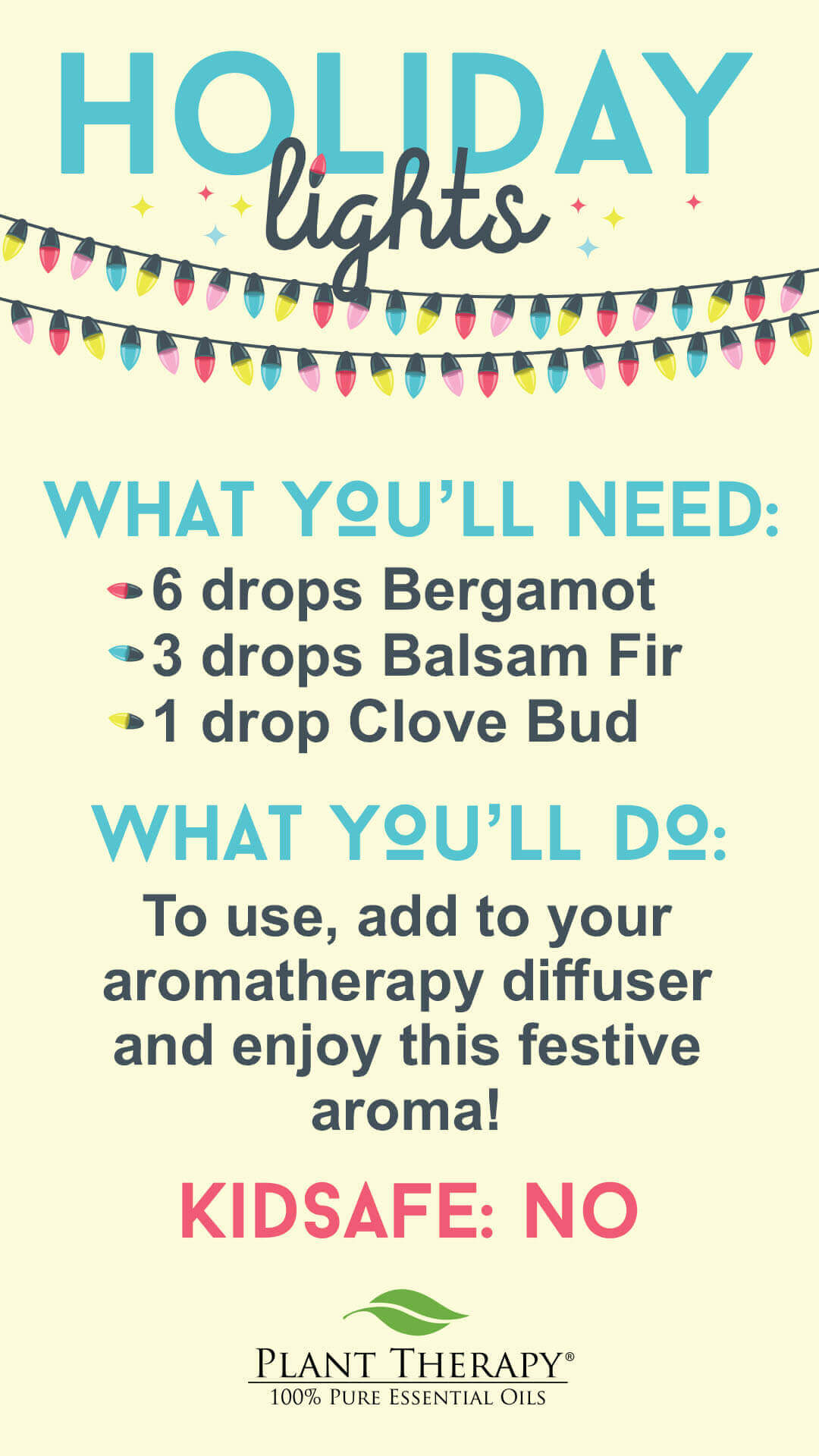 Plant Therapy Holiday Lights DIY Diffuser blend