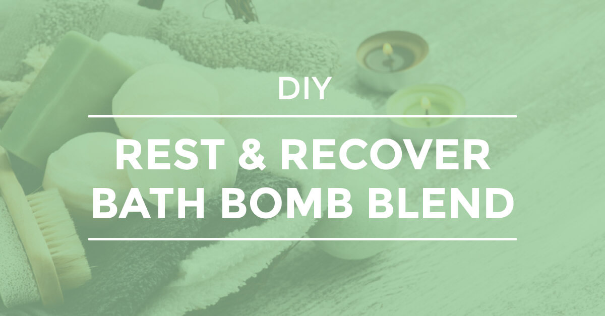 Rest and Recover Bath Bomb Blend DIY