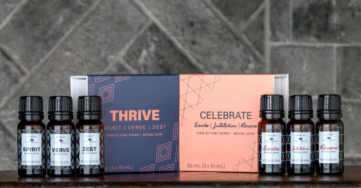 Evoke Thrive and Celebrate sets from Plant Therapy natural scents