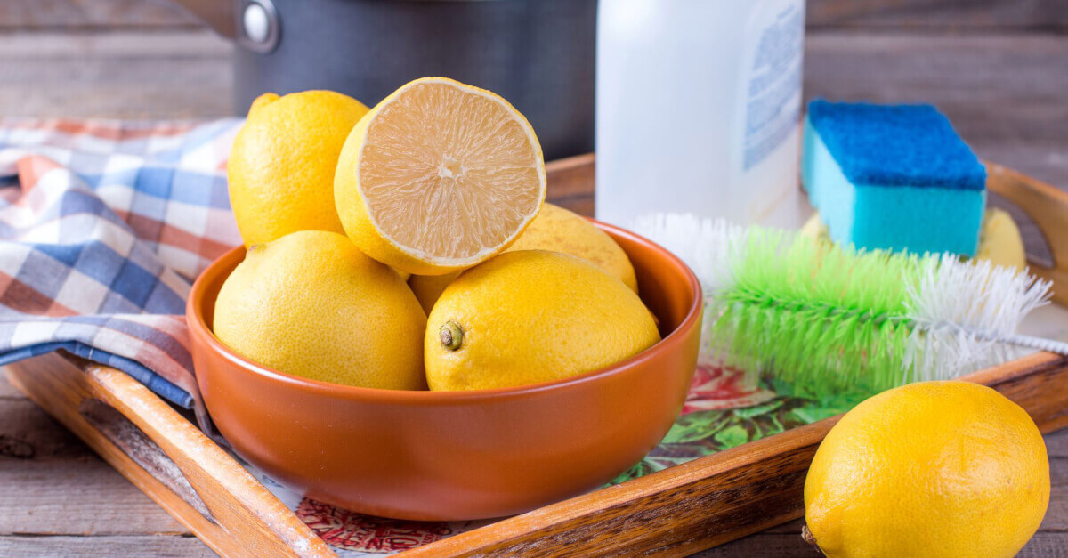 lemons and cleaning products