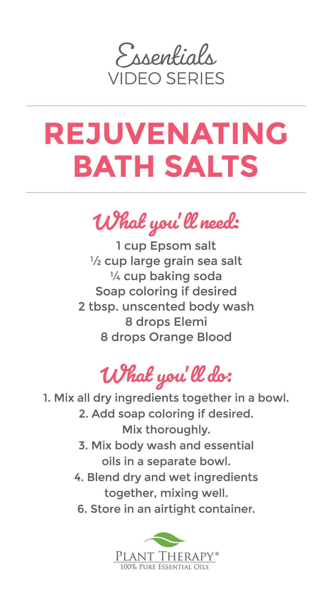 essentials video rejuvenating bath salts