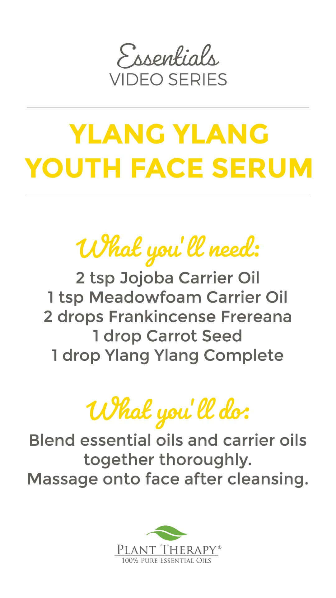 Essentials Video: Fountain of Youth Face Serum DIY
