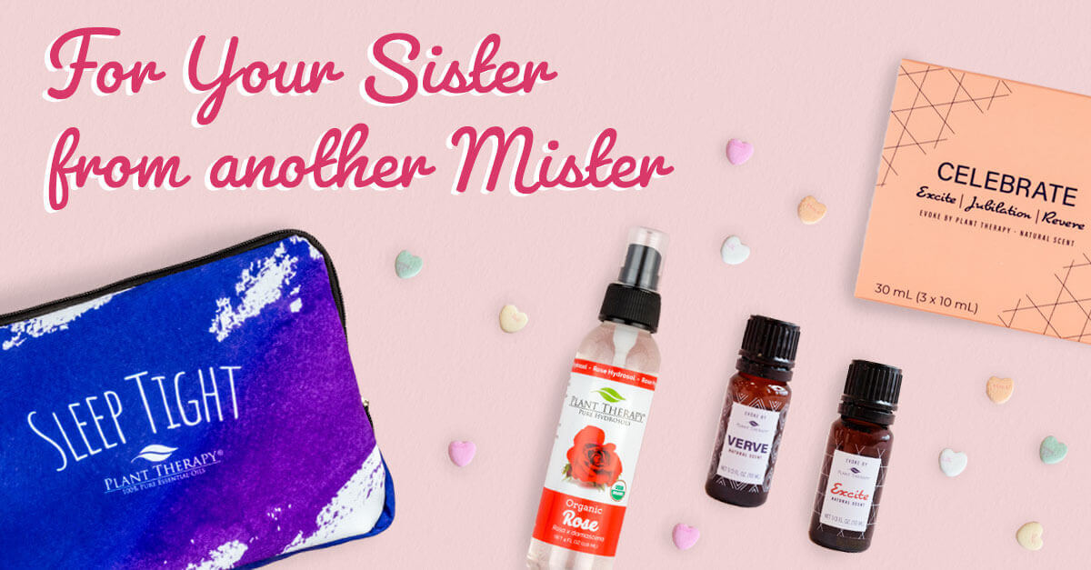 For your sister from another mister sleep tight set, rose hydrosol, and Evoke