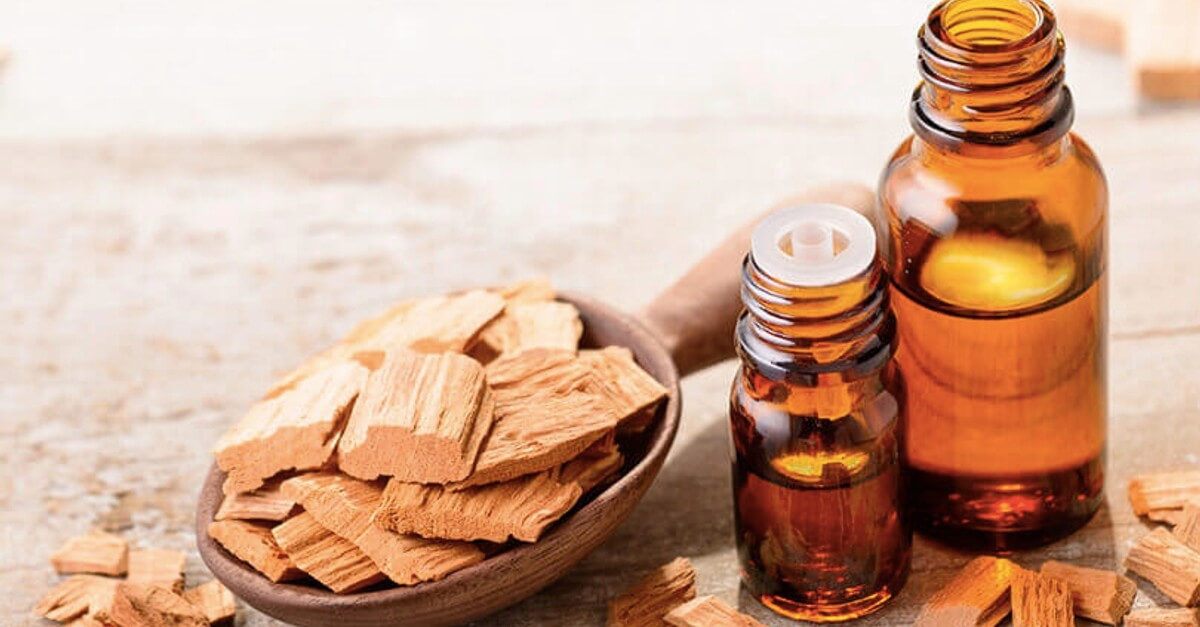 Sandalwood Essential Oil bottles