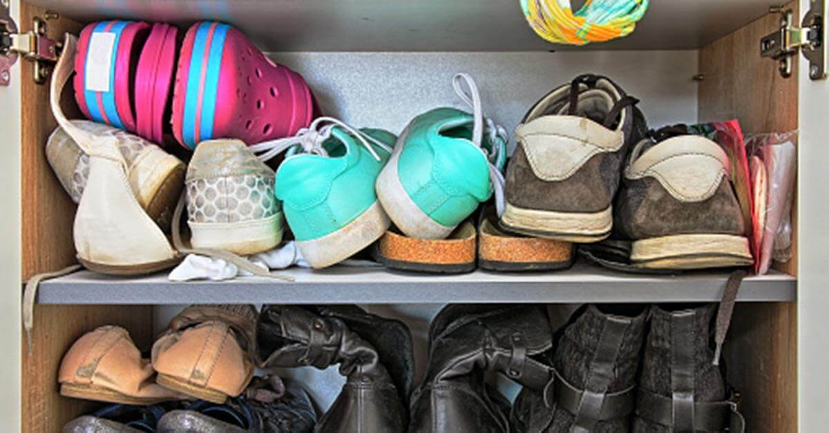 Cupboard full of stinky shoes