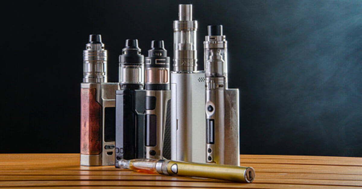 A selection of different vape pen varieties