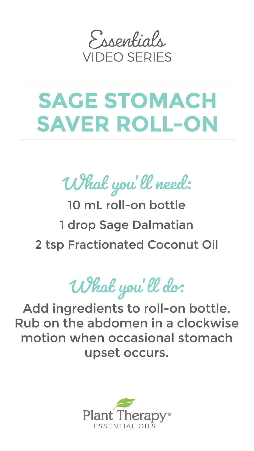 Essentials Video: Sage Stomach Saver Roll-On
