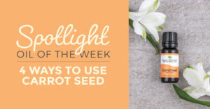 spotlight oil of the week: 4 ways to use carrot seed essential oil