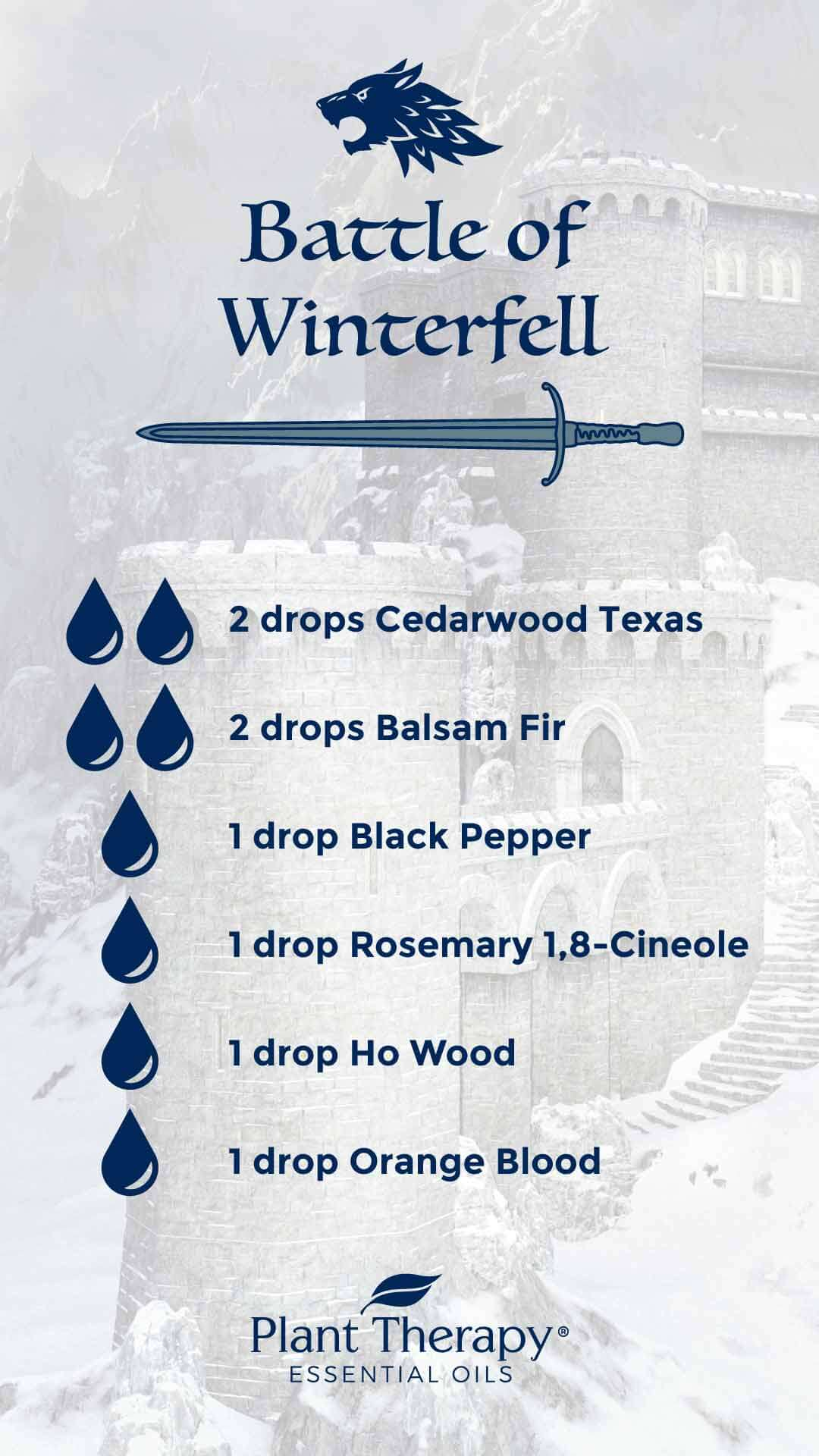 Game of Thrones Battle of Winterfell Diffuser Blend